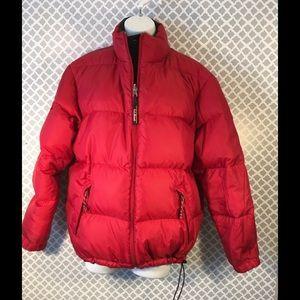 L.L. Bean Down Reversible Jacket Sm Blk/Red ⛷